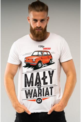 Koszulka męska Auta PRL - Fiat 126P