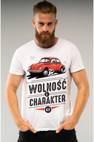 Koszulka męska Auta PRL - Garbus