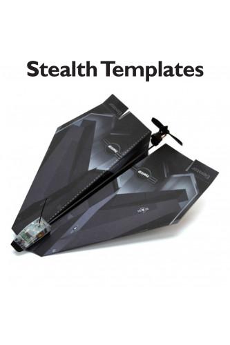 Samolot papierowy sterowany smartfonem, Model - Bombowiec Stealth