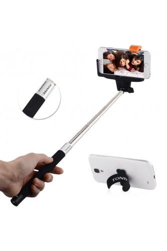 Monopod selfie bluetooth z przyciskiem