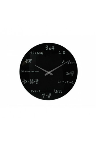 Zegar Matematyka - Czarny