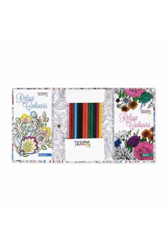 Kolorowanka Podróżnicza -  - wzory, florystyka