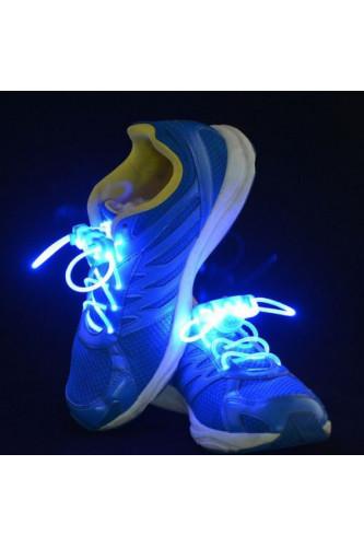 Świecące sznurówki LED - niebieskie
