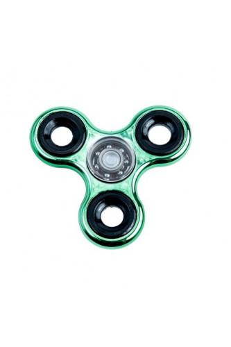 Fidget Spinner - chromowany  - zielony