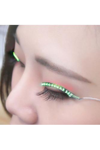 Święcące rzęsy LED Lashes - zielone
