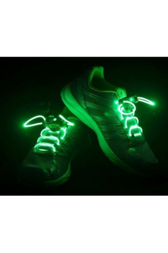 Świecące sznurówki LED - zielone