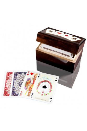 Karty Piatnik w pionowej szkatułce z asami