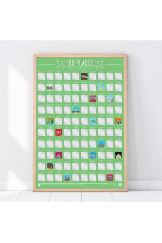 Plakat Zdrapka - 100 miejsc do zobaczenia