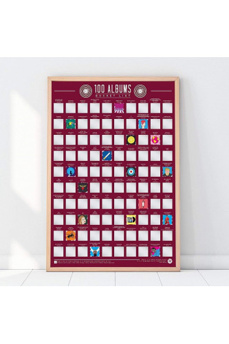 Plakat Zdrapka - 100 płyt do posłuchania