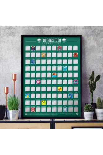 Plakat Zdrapka - 100 rzeczy do zrobienia