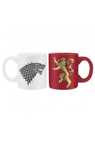 Kubki do espresso Gra o Tron Stark Lannister 2 szt.