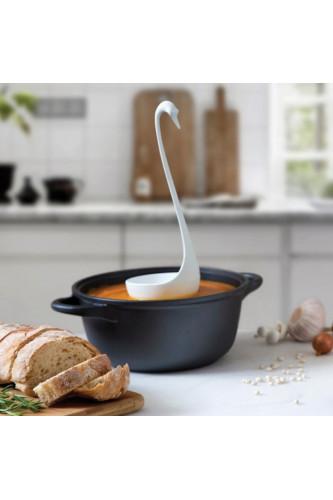 Łabędzia chochla do zupy - biała