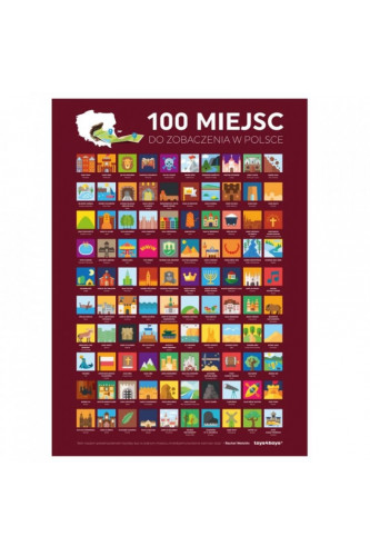 Plakat Zdrapka 100 Miejsc POLSKA