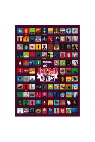 Plakat Zdrapka 100 horrorów do obejrzenia