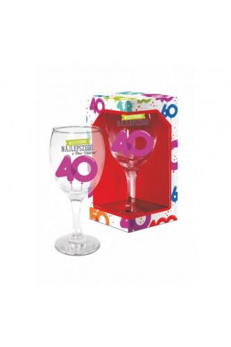 Kieliszek Do Wina Na 40 Urodziny Baloniki