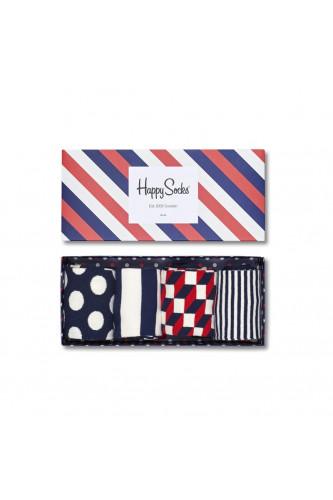 Zestaw skarpetek Happy Socks 4 pary, Skarpetki Happy Socks: Marynarskie