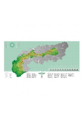 Mapka Zdrapka Alpy