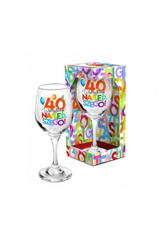 Kolorowy kieliszek na 40 urodziny