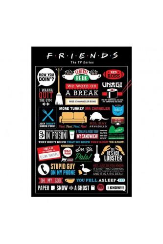 Plakat Friends - Przyjaciele Piktogramy 91.5x61cm