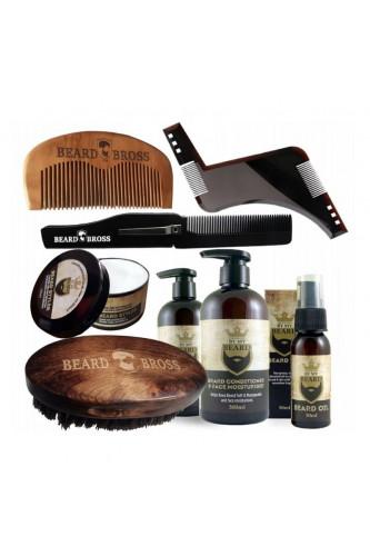 Męski zestaw brody i włosów