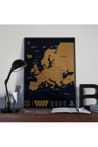 Mapka Zdrapka VIP Europa