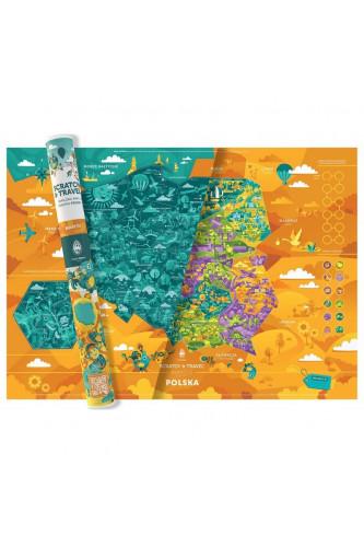 Mapka Zdrapka Polska Mapito