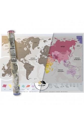 Mapka Zdrapka Świat - Premium