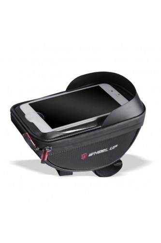 Sakwa Rowerowa Tuba na kierownicę iPhone - pokrowiec na telefon - Wheel-UP Czarna