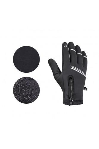 Rękawice Rowerowe Pełne Ocieplane - ekran dotykowy - Wheel-UP, Rozmiar Rękawice Pełne: XL
