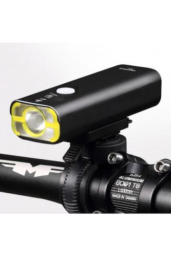 Lampka rowerowa przednia V9C 400lm Wheel Up, Kolor lampki rowerowej Wheel Up: Czarna