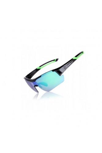 Okulary sportowe w etui 3x szkła Wheel Up, Kolor okularów Wheel Up: Zielone