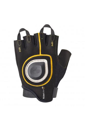 Rękawiczki rowerowe z kierunkowskazem Flickerbiker, Wariant rękawiczek: Rozmiar S żółte