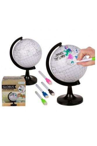 Podróżniczy Globus do kolorowania