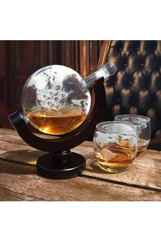 "Zestaw do Whisky ""Globus"" - karafka i szklanki"