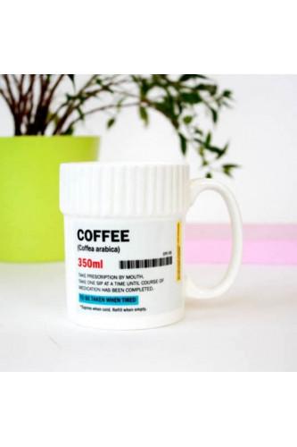 Kubek leczący kofeiną