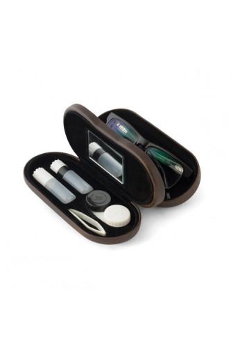 Etui na okulary i szkła kontaktowe, Etui na okulary i szkła kontaktowe: Brązowy