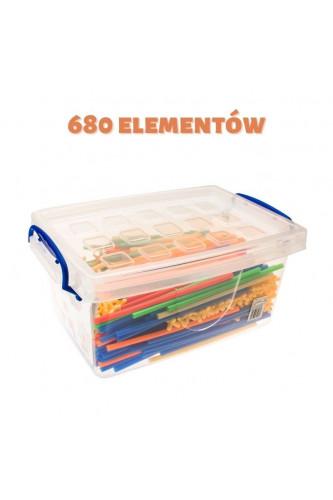 Słomki do budowania obiektów, Słomki do budowania obiektów: 680 elementów