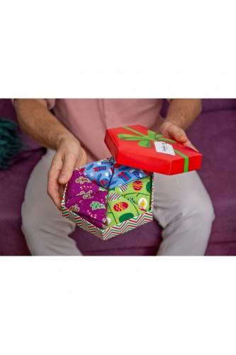 Skarpetki Świąteczne Ozdoby - zestaw 3 par (41-46)