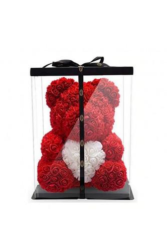 Miś z róż Rose Bear Duży 40 cm