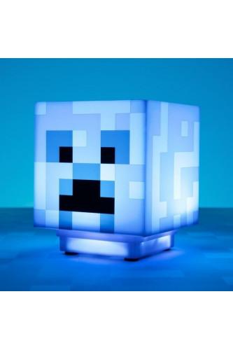 Dźwiękowa lampka nocna Minecraft Creeper Blue