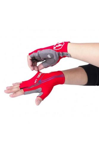 Rękawice Kolarskie bez Palców Gel-Wheel UP - Czerwone