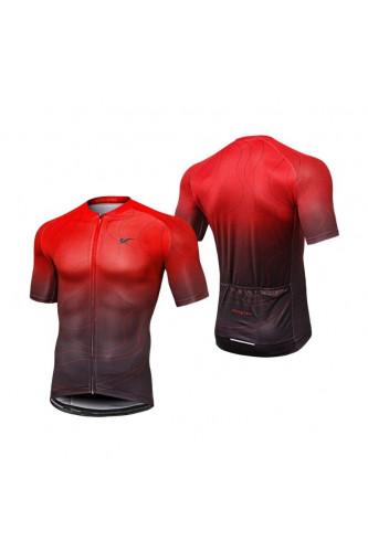 Koszulka Rowerowa Rozpinana - Czerwona