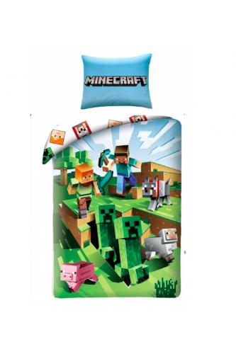 Pościel Minecraft Creeper, Wymiary pościeli: 160x200 cm